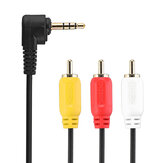 CHOSEAL QS3000 3.5mm to 3RCA Male to Audio Video AV Cable 1 in 3 Adapter Extension Audio Cable for TV