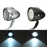 Rétro Vintage E-vélo Front Light de vélo Phare LED Head Phare Antibrouillard Avec Support