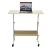 Adjustable Laptop Desk Movable Bed Desk Writing Small Desk Lifting Desk Mobile Bedside Table for Home Dormitory