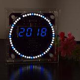 Geekcreit® 4th Generation DIY EC1838B DS1302 ضوء مراقبة Rotation LED Electronic ساعةحائط Kit موسيقى إنذار ساعةحائط مع السكن