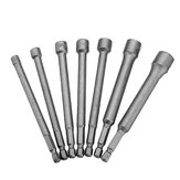 Drillpro 7pcs 1/4 Inch Hex Socket Adapter 5-12mm Magnetic Nut Driver Drill Bit Adapter