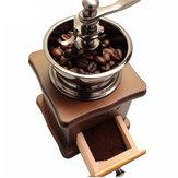 レトロステンレス多機能手動コーヒー豆粉砕機木製ナットミルハンド研削ツール