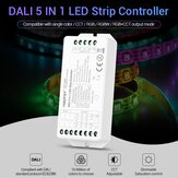 MiBOXER DL5 5 IN 1 LED Strip Controller Common Anode Compatible with remote control/DALI Bus Power Supply DC12-24V