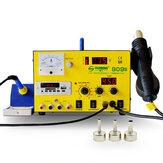 YAOGONG 909S AC110V / 220Vオートカットホットエア3 in 1 DC電源はんだ付けリワークステーション