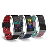 Bakeey E08 ECG ECG Monitor per la pressione arteriosa Idoneità Tracker 3D UI a colori IP67 Smartwatch standby lungo
