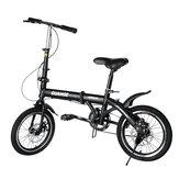 GUANGE 16inch Folding Bike Ultra-lightweight Kids Bike Single-speed Children Bicycle for 8-16 Years Old