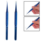Anti-magnetic Titanium Microsurgical Straight Curved Tweezer Anti-corrosion With 0.15mm