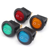 20pcs LED Dot Light 12V Motorcycle Car Boat Auto Rodada ON / OFF Rocker Toggle SPST Switch