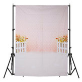 5x7FT Flower Fence Pink Photography Backdrop Background Studio Prop
