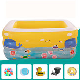 Kids Baby Inflatable Swimming Pool Aerated Square Newborn Water Bathing Play Toy