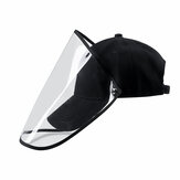 Détachable Transparent Masque De Protection Visage Bouclier Chapeau Anti-Poussière Isoler Splash Salive Cap