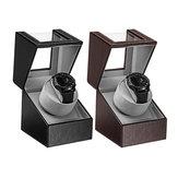 自動時計ディスプレイケース回転時計ワインダー調節可能なディスプレイホルダー収納ボックスミュートモーター時計ボックス