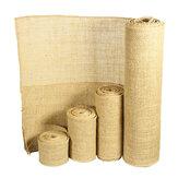 5/10/15/30cm Natural Jute Hessian Burlap Roll Ribbon Rustic Weddings Belt Strap Floristry Decor