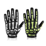 Motorcycle Full Finger Gloves Skeleton Bone Skull Outdoor Sports Cycling Bike