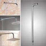 Accessori da bagno per tubo da parete con staffa per soffione doccia in acciaio inossidabile argento 50x10cm