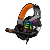 Cuffie da gioco per PC cablate stereo stereo virtuale 7.1 canali TBOTB G818 oltre Orecchio cuffia con eliminazione del rumore con controllo del volume Mic Revolution luce a led