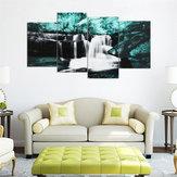 4PCSForestFallsPinturasDe Parede Casa Modern Art Natureza Decoração Imagem Sem Moldura