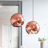 Nordic Globe Glass Copper Color Pendant Light Dinning Room Living Room Hanging Lamp Home Decoration