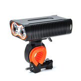 XANES® DL22 2 x T6 1200LM 4 Modes Bicycle Light USB Charging IP65 Waterproof Bike Front Light Night Riding Headlight
