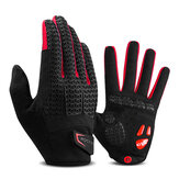 ROCKBROS Full Finger Cycling Gloves Men Women Anti-Slip Shockproof Touch Screen Motorcycle Bike Cycling Gloves