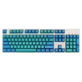 Maxkey 134 Key Zeeblauw SA-profiel ABS Keycaps Aangepaste Keycap-set voor 60% 65% 75% 80% 100% HHKB ISO Layout Mechanisch toetsenbord