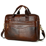 Leather Vintage Handbag Business Briefcase Crossbody Bag