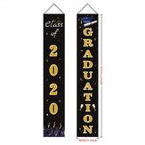 Graduation Banner Graduation Porch Sign Graduation Class of 2020 Banner Hanging Door Decor per interni per la scuola di laurea all'aperto Decorazioni per feste