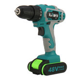48V Cordless Power Drill Double Speed Electric Screwdriver W/ 1 or 2 Li-ion Battery
