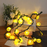 Lemon Slices String Lights Christmas Home Decoration Garland Battery Powered LED Light String Fairy Lights for Photo Wedding Decor