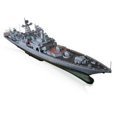 1: 200 High Simulation Missile Destroyer Battleship Model DIY Educación Juguetes de construcción