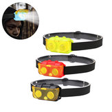 XANES® 900LM AAA Battery Bike HeadLamp 3 Modes Night Riding Lights Camping Cycling Hunting Emergency Lantern