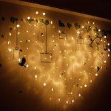 2x1 متر 128 ليد شكل قلب ضوء سلسلة 220 فولت الستار ضوء ديكور المنزل لمهرجان عيد الميلاد