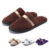 Kadın Erkek Soft Peluş Terlikler Kış Sıcak Antiskid Flip Flop Kapalı Outdoor Graden Sandal
