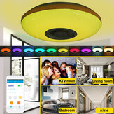 120W LED Ceiling Lamp Bluetooth Music Speaker Dimmable RGB Light Remote Control