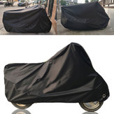 190T Negro Moto Cubierta Impermeable al aire libre Rain Dust UV Scooter Protector