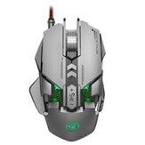 HXSJ J800 Wired Mecânico Gaming Mouse 6400DPI LED Variable Backlight Comfort Gamer Mouse para computador desktop laptop