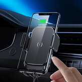 Bakeey Qi Car Wireless Charger 15W Auto Clamping Wireless Charging Vent Car Phone Holder for POCO X3 NFC for Samsung Galaxy Note S20 ultra for iPhone 11