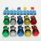10st LED-verlichte Volledige Kleuren Schakelknoppen Voof Arcade DIY Parts JAMMA