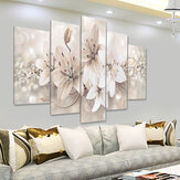 5 Paneles Love Flowers Decorations Wall Art Print Pictures Lienzos de pared sin marco para el hogar