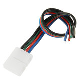 4 Pin 8mm Width Solderless Connectors Extension Cable Wire for RGB 2835 3528 LED Strip