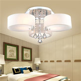 E27 Modern 3 Heads Crystal LED Ceiling Light Pingente Luzes com remoto Controler