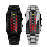 SKMEI 1013 Fashionable Creative Couple LED Display Watch Full Steel Band Digital Watch