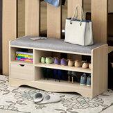80 cm bois armoire à chaussures banc de rangement organisateur rack armoire entrée couloir étagère à chaussures banc de rangement