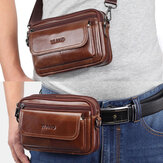 Men Genuine Leather Multifunctional Crossbody Bag Waist Bag Belt Bag