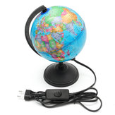 World Earth Globe Atlas Map Geography Education Gift w / Rotating Stand LED light