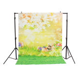 5x7ft Flower Tree Easter Eggs Rabbit Thin Vinyl Photography Backdrop Background Studio Photo Prop
