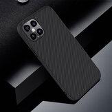 NILLKIN anti-impressão digital anti-derrapante de fibra sintética texturizada à prova de choque Caso para iPhone 12 Pro Max 6,7 polegadas