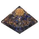 Pyramid Crystal Gemstone Meditation Yoga Energy Healing Stone Home Desk Dekorationer