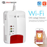 Smarsecur Tuya WIFI Gas Detector APP Notification Gas Alarm Sensor For Smart Home Kit Remote Alarm Eco-System
