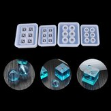 1pcs 12mm/16mm Cube Ball Beads Silicone Mold 6 Compartment